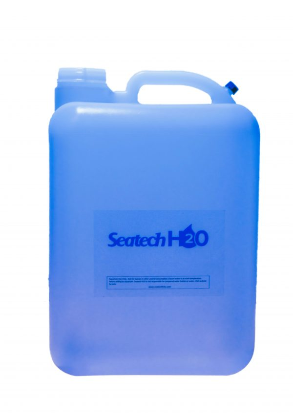 Order RODI water for your fish tank through Seatech H2O, an aquarium water delivery service based in Phoenix, Arizona. Reverse osmosis deionized water is available in 5-gallon jugs similar to this one, as well as 3-gallon jugs. Water can be refilled on site as well.