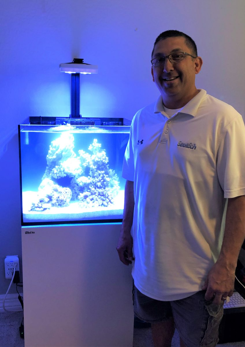 Jimmie Hernandez is the founder of Seatech Aquariums and Seatech H2O, which delivers fish tank water to homes throughout the Phoenix area.