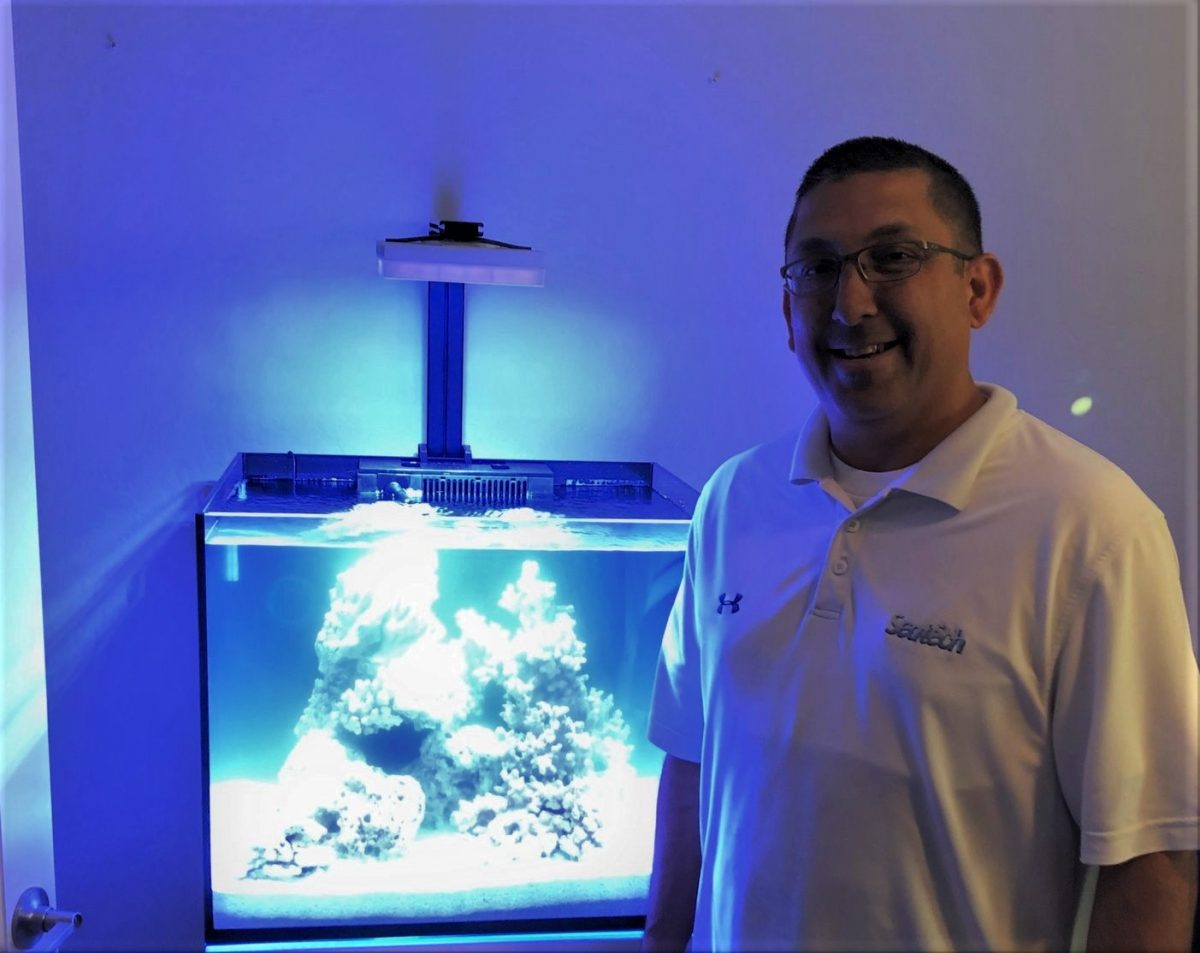 Jimmie Hernandez, owner of Seatech Aquariums and Seatech H2O, provides aquarium installation and fish tank maintenance as well as RODI fish tank water delivery throughout the Phoenix area.